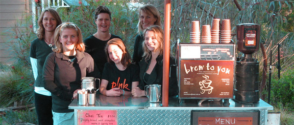 We have a trained team serving coffee at events throughout Victoria